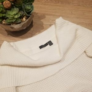 RDI Ivory Off The Shoulder Preppy Cowl Sweater S